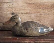 Vintage Duck Decoy Featherlite Resin Hard Plastic