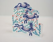 Three Layered Folding Card - Lepus Timidus