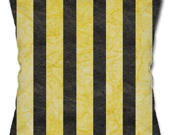 Bee Stripe Pattern Throw Pillow