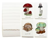 Wild Mushroom Greeting Cards - Set of 8