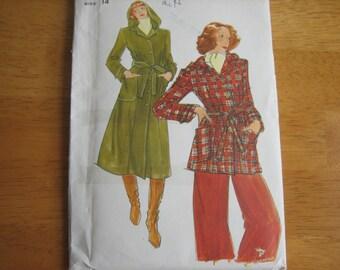 Butterick Pattern 4486 MIsses' Coat & Jacket    1970's    Uncut