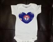 Texas Rangers Onesie