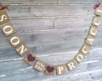 Bridal Shower Decor / Soon to be Mrs. Banner / Bachelorette Sign / Bride to Be Banner/ Future Mrs Sign - Your Color Choice