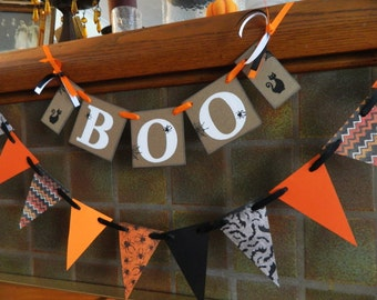BOO Halloween Decoration- Boo Banner - Halloween Photo Prop - Halloween Party Decoration - Halloween Decor- Halloween Photo Prop