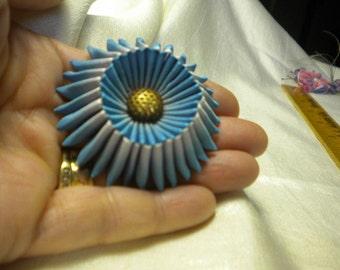 Miniature Cocarde Vintage Ombre Ribbon Antique Button