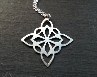 Geometric Pendant - handcut sterling silver - Handcrafted Geometry Jewellery