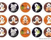 """Halloween Cutie Ghost 1 Digital Download for 1"""" Bottle Caps (4x6)"""