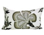 Schumacher Hothouse Flowers lumbar pillow cover in Dusk