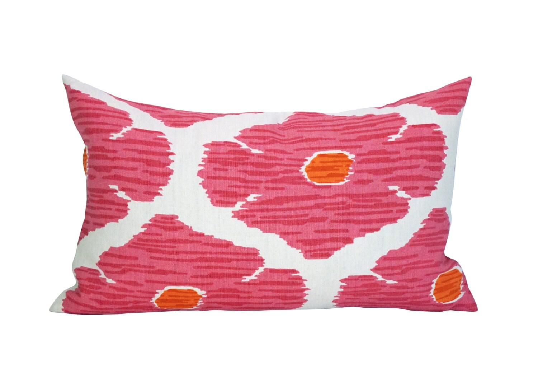 Modern Lotus Pillow : Poppy lumbar pillow cover in Lotus