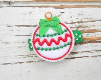 Christmas Hair Clip - Ornament Clippie - Christmas Clippie