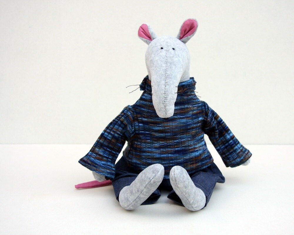 Blue knitted Sweater for little creatures