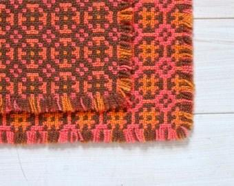 Bohemian Doilie or Tray cloth - Set of 2 Colorful Place Mats - Wool - Boho Home Decor