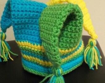 Jester Crochet Hat