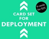 Card Set for Deployment - Military Greeting Cards, Deployment, Care Package, Military Cards