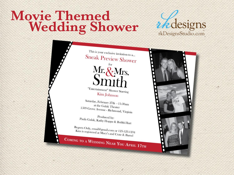 Wedding Theme Invitations: Movie Themed Wedding Shower Invitation DIGITAL FILE