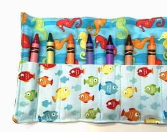 Mermaids Crayon Roll