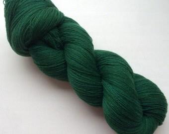 100% Cashmere, handdyed yarn, 100g- Emerald green