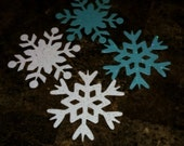 Sizzix snowflake Die cut shapes glitter card stock Embellishments