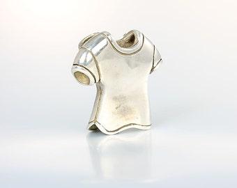 Sterling silver Tee Shirt Pendant, Hattie Carnegie Modern Slide 1960s Designer vintage jewelry