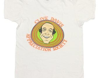 Clive Davis Appreciation Society Shirt 1970s Vintage Tshirt Record Producer 70s
