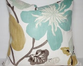 NEW Braemore Gorgeous Pearl Pillow Cover Teal Green Rose Decorative Flower Throw Pillow Covers 20x20 22x22 24x24