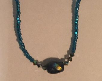 Dichroic Focal Bead Bracelet