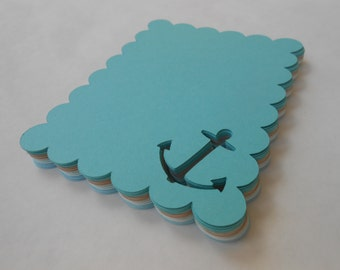 50 Anchor Place Cards.  CHOOSE YOUR COLORS. Weddings, Escort, Table Cards. Custom Orders Welcome.