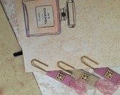 Diamonte Gold and Pink Glitter Planner/Journalling Paper Clips