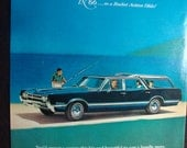 Vintage Magazine Original Promo Ad 1960's Oldsmobile Vista Cruiser - Great for Framing