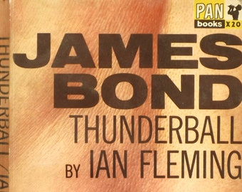 1960s James Bond book Thunderball by Ian Fleming paperback book