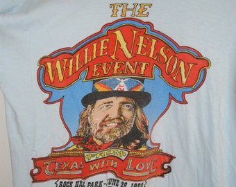 Vintage Willie Nelson Event t shirt from Texas with love 1980