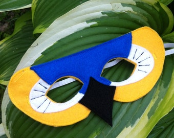 Blue and Gold Macaw Mask / Parrot Mask / Macaw Mask