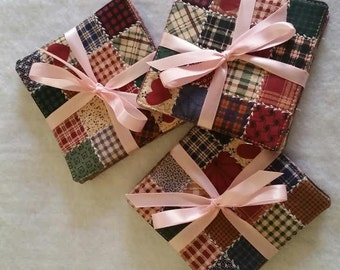 Coasters, machine Quilted coasters 3 set(total of 12 coasters) of coasters