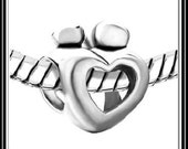 ABSTRaCT - COuPLE - LOVER's or MoTHER CHiLD - OPeN HEaRT - Excellent Quality - Authentic Charm Bead - fits EURoPEAN Bracelet - PUG-S-4020