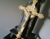 Vintage Church Brass Processional Cross 1930's