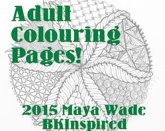 Zendoodle Zentangle Mandala Coloring Page Pdf
