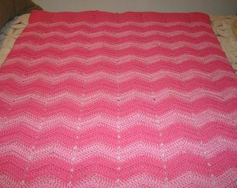 New Hand Crocheted Baby Crib  Afghan 36 X 47 inch