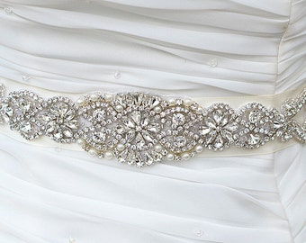 SALE HELEN wedding swarvoski crystal sash , belt
