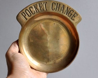"SALE 20% OFF! Modern Brass ""Pocket Change"" Dish"