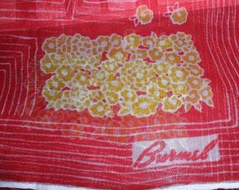 Vintage Sheer Scarf Red by Burmel