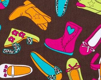 C144 - 145cmx100cm Cotton Fabric - Shoes