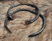 Twisted Spirals Steel Bracelet - Blacksmith hand forged