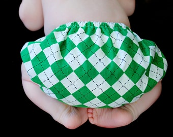 Baby Boy Argyle Diaper Cover Christmas Holiday Birthday Cake Smash Newborn Photo Prop Little Man Kelly Green White