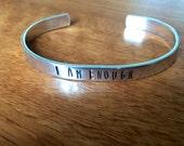 I am enough... cuff bracelet...