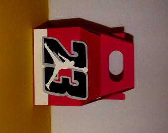 Air Jordan Favor Boxes - Basketball favor bags -  Gable Boxes