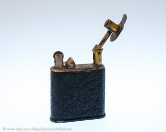 NOS World War 1 Era ORA Lift Arm Utility Lighter With Crackle Finish