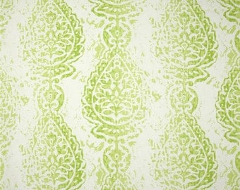 CLEARANCE Kiwi Green Manchester 1 Yard Remnant. 37 Inches- Premier Prints Manchester Kiwi Home Decor - Fabric by the Yard
