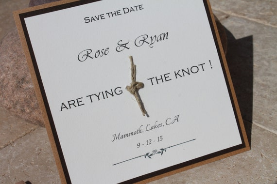 items similar to rustic wooden save the date tie the knot