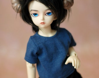 YoSD Blue T Shirt For BJD Teenie Gem