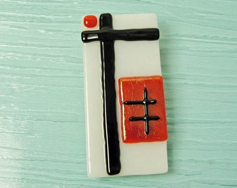 Large Money Clip Fused Glass Money Clip Mens Accessories White Red Black Glass Art Gifts for Men Groomsmen Gifts Under 30 Dollars Birthday